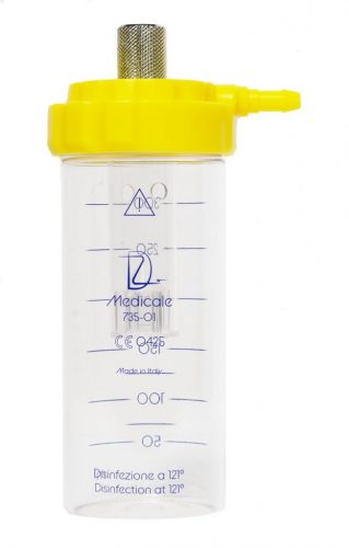 DZ Medicale - flussometro umidificatore giallo
